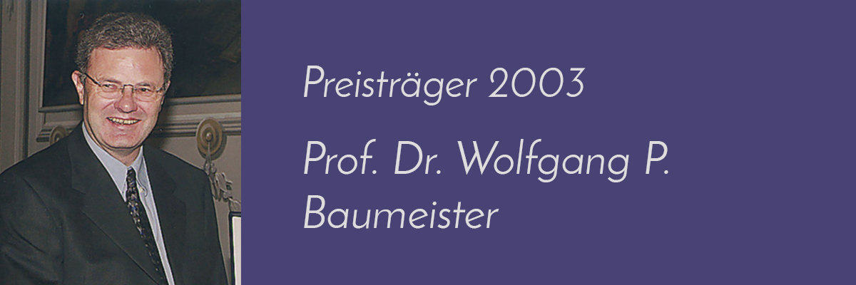 Prof. Dr. Wolfgang P. Baumeister